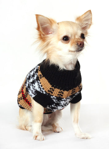 Autumn Sweater – Brown and Black - The Dog Demands, [product_dog accessories]