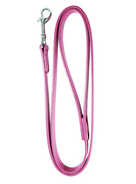 Fuschia Leather Matching Dog Lead - The Dog Demands, [product_dog accessories]