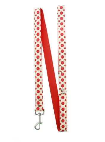 Red/White Glitter Silver Bone Lead - The Dog Demands, [product_dog accessories]
