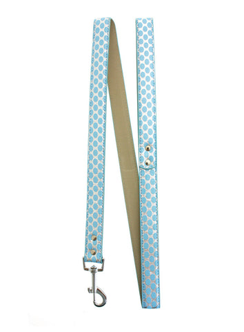 Silver & Blue Polka Dot Lead - The Dog Demands, [product_dog accessories]
