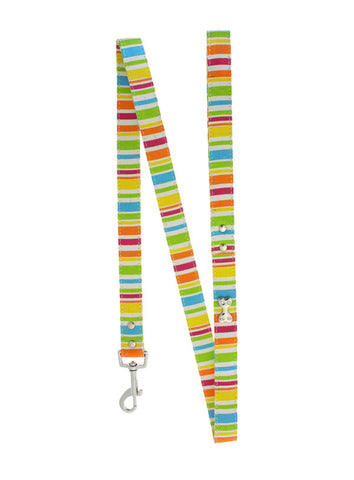 Striped Neon Canvas Diamante Lead - The Dog Demands, [product_dog accessories]