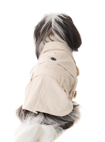 Classic Beige Trench Coat - The Dog Demands, [product_dog accessories]
