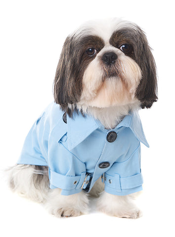Powder Blue Trench Coat - The Dog Demands, [product_dog accessories]