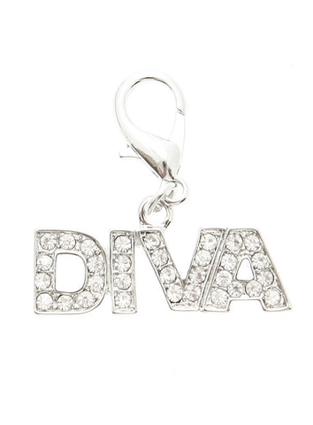 Swarovski ''Diva'' Dog Collar Charm (Clear Crystals) - The Dog Demands, [product_dog accessories]