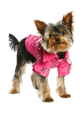 Kensington Waterproof Trench Coat – Fuschia - The Dog Demands, [product_dog accessories]
