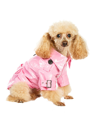 Kensington Waterproof Trench Coat – Pink - The Dog Demands, [product_dog accessories]