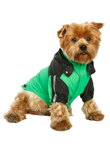 Trailfinder Windbreaker Jacket – Green and Black - The Dog Demands, [product_dog accessories]