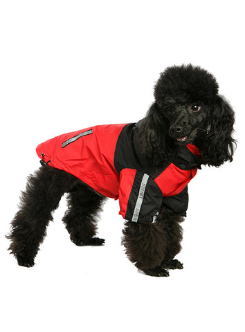 Trailfinder Windbreaker Jacket – Red and Black - The Dog Demands, [product_dog accessories]