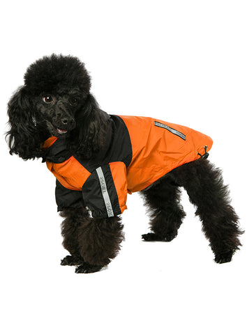 Trailfinder Windbreaker Jacket  - Orange and Black - The Dog Demands, [product_dog accessories]