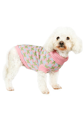 Pink / Green Cross Checked Sweater - The Dog Demands, [product_dog accessories]