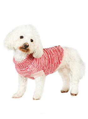 Pink Waffle Textured Knitted Sweater - The Dog Demands, [product_dog accessories]