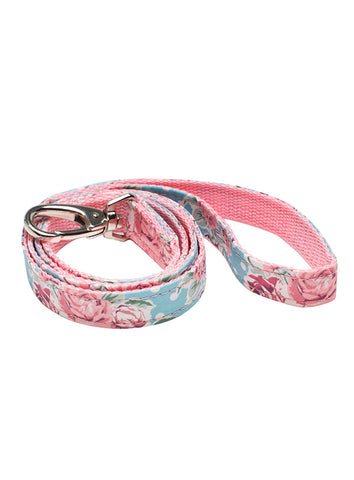 Vintage Rose Floral Fabric Lead - The Dog Demands, [product_dog accessories]