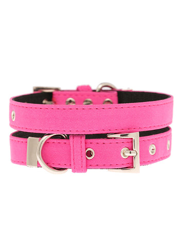 Neon Pink Fabric Collar - The Dog Demands, [product_dog accessories]