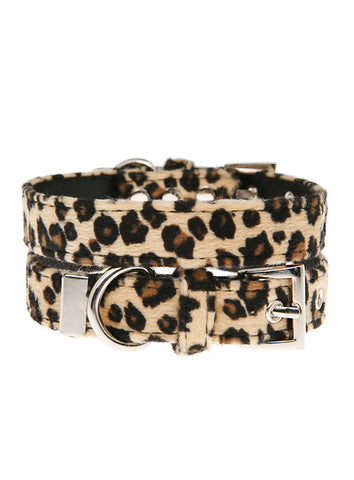 Leopard Print Fabric Collar - The Dog Demands, [product_dog accessories]