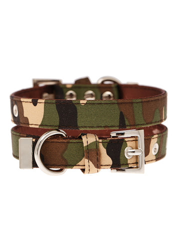 Camouflage Fabric Collar - The Dog Demands, [product_dog accessories]
