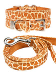 Giraffe Print Fabric Collar & Lead Set - The Dog Demands, [product_dog accessories]