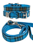 Blue Tartan Fabric Collar & Lead Set - The Dog Demands, [product_dog accessories]