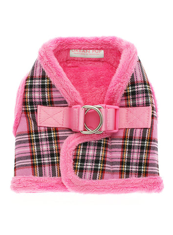 Luxury Fur Lined Pink Tartan Harness - The Dog Demands, [product_dog accessories]