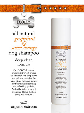 All Natural Grapefruit & Sweet Orange Dog Shampoo (300ml) - The Dog Demands, [product_dog accessories]