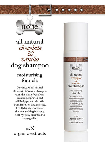 All Natural Chocolate & Vanilla Dog Shampoo (300ml) - The Dog Demands, [product_dog accessories]