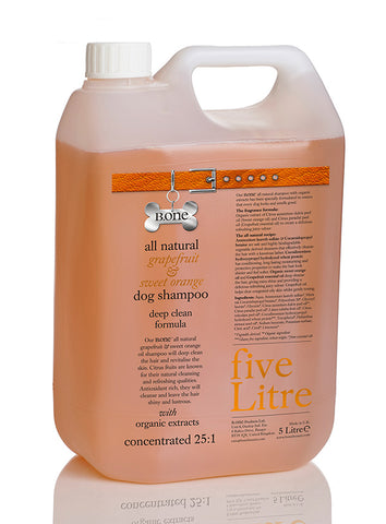 All Natural Grapefruit & Sweet Orange Dog Shampoo (5 Litre Groomer's Range) - The Dog Demands, [product_dog accessories]