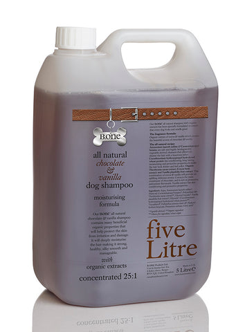 All Natural Chocolate & Vanilla Dog Shampoo (5 Litre Groomer's Range) - The Dog Demands, [product_dog accessories]