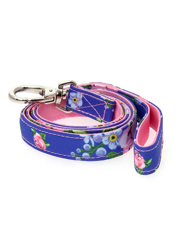Pink / Blue Floral Burst Fabric Lead - The Dog Demands, [product_dog accessories]