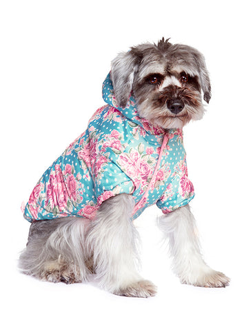 Vintage Rose Quilted Floral Coat - The Dog Demands, [product_dog accessories]