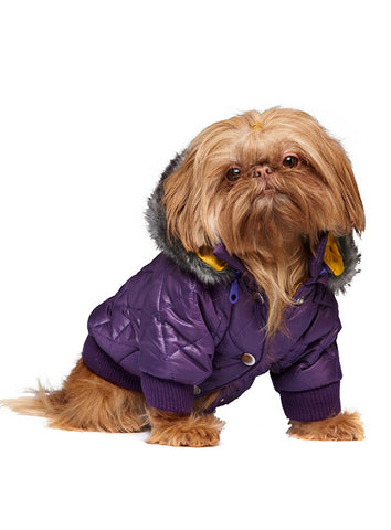 Thermo Purple Quilted Parka - The Dog Demands, [product_dog accessories]