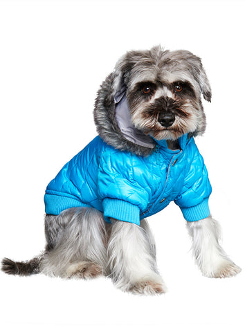 Thermo Blue Quilted Parka - The Dog Demands, [product_dog accessories]
