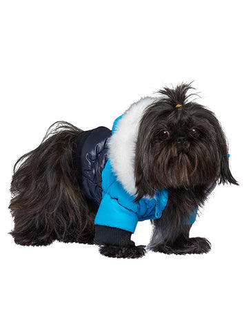 Thermo Blue / Black Quilted Parka - The Dog Demands, [product_dog accessories]