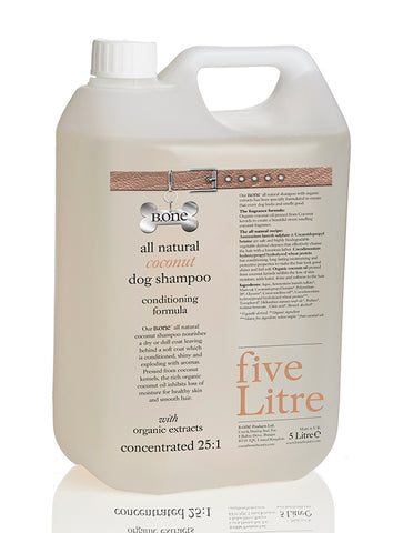 All Natural Coconut Dog Shampoo (5 Litre Groomer's Range) - The Dog Demands, [product_dog accessories]