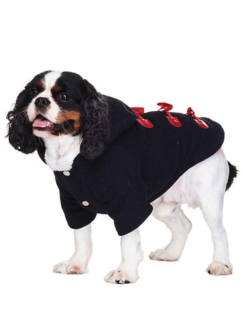 Navy Blue Duffle Coat - The Dog Demands, [product_dog accessories]
