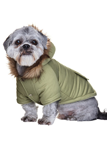 Mod Fishtail Parka  - Green - The Dog Demands, [product_dog accessories]