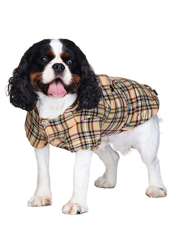 Brown Tartan Coat - The Dog Demands, [product_dog accessories]