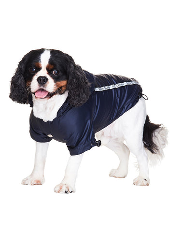 Ink Blue Rainstorm Raincoat - The Dog Demands, [product_dog accessories]