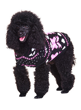 Winter Wonderland Hooded Sweater – Black - The Dog Demands, [product_dog accessories]