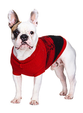 Donegal Red & Black Ribbed Sweater - The Dog Demands, [product_dog accessories]