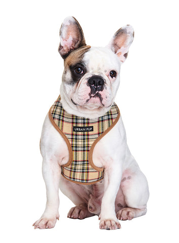 Brown Tartan Harness - The Dog Demands, [product_dog accessories]