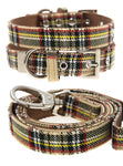 Brown Tartan Collar & Lead Set - The Dog Demands, [product_dog accessories]