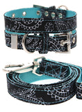Black & Blue Paisley Collar & Lead Set - The Dog Demands, [product_dog accessories]
