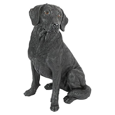Design Toscano Black Labrador Retriever Dog Statue - The Dog Demands, [product_dog accessories]