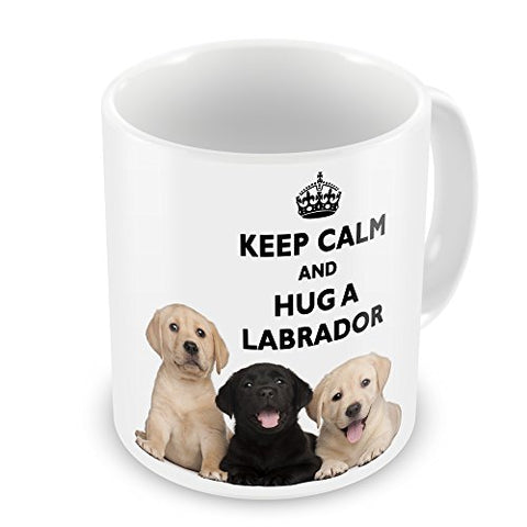 Keep Calm And Hug A Labrador Novelty Gift Mug - The Dog Demands, [product_dog accessories]