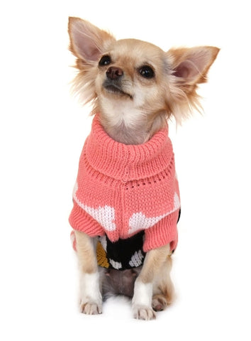 Alpine Hooded Sweater – Pink - The Dog Demands, [product_dog accessories]