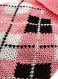 Pink & Black Argyle Sweater - The Dog Demands, [product_dog accessories]