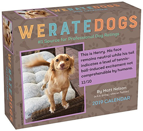 We Rate Dogs 2019 Day-to-Day Calendar - The Dog Demands, [product_dog accessories]