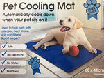 Mega_Jumble Self Cooling Gel Pet Dog Cat Cool Mat Pad Bed Mattress Heat Relief Non-Toxic 60 x 44cm Blue - The Dog Demands, [product_dog accessories]