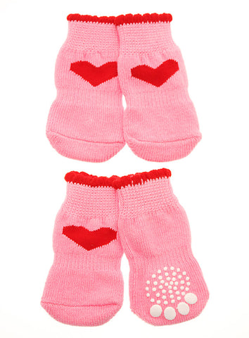 Pink Hearts Pet Socks - The Dog Demands, [product_dog accessories]