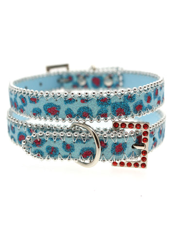 Handcrafted Cool Blue Bling Collar - The Dog Demands, [product_dog accessories]