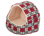 Gor Pets Argyll Hooded Bed Red Check - The Dog Demands, [product_dog accessories]